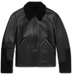 Mr P. - Shearling-Lined Leather and Suede Jacket - Men - Black