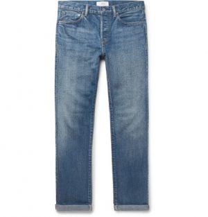 Mr P. - Slim-Fit Selvedge Denim Jeans - Men - Blue