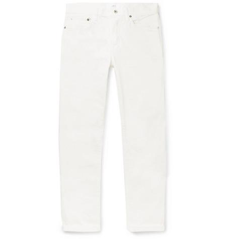 Mr P. - Slim-Fit Selvedge Denim Jeans - Men - White