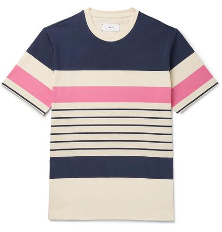 Mr P. - Striped Cotton-Jersey T-Shirt - Men - Multi