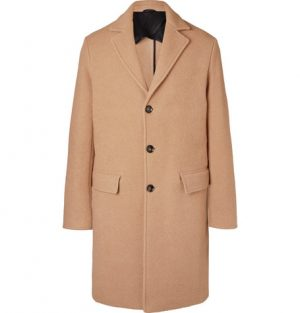 Mr P. - Virgin Wool and Camel Hair-Blend Overcoat - Men - Beige