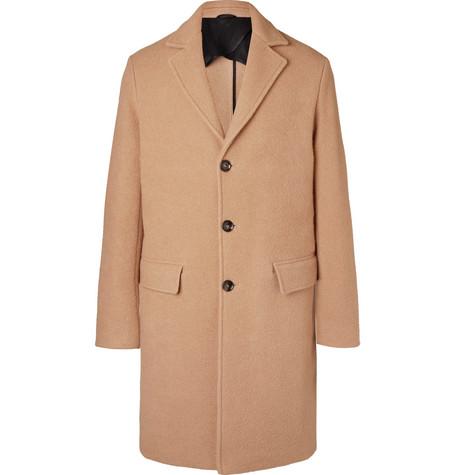 Mr P. - Virgin Wool and Camel Hair-Blend Overcoat - Men - Beige