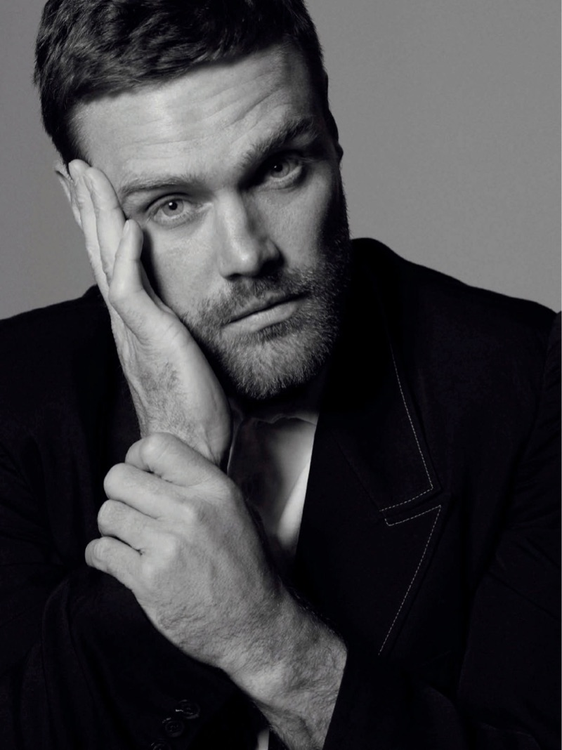 Nick Youngquest Dons Black Fashions for Spanish GQ