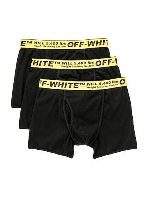 OFF-WHITE Tripack Boxer Shorts in Black. - size L (also in S)