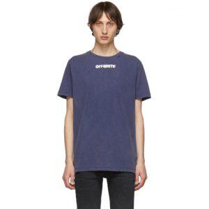 Off-White Blue Skulls Slim T-Shirt