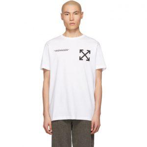 Off-White White Flamed Bart Slim T-Shirt