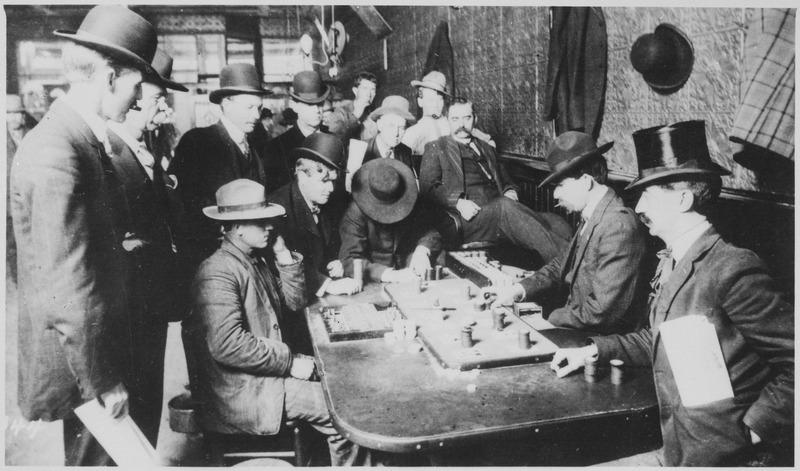 Gambling at the Orient Saloon in Bisbee, Arizona, c.1900.