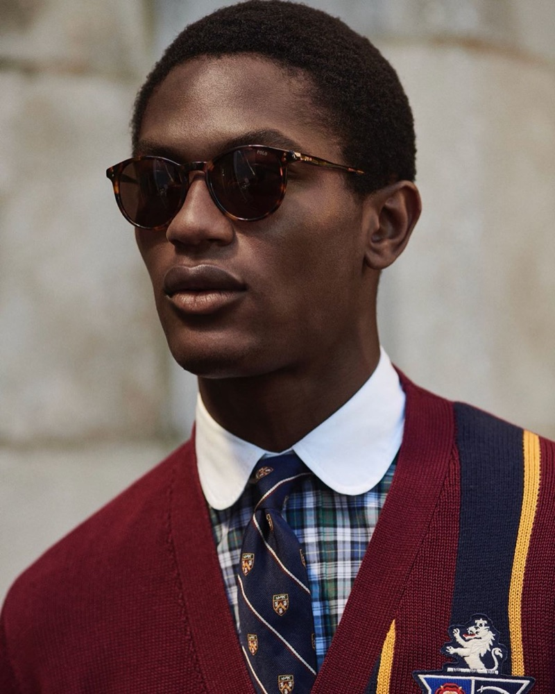 Hamid Onifade fronts POLO Ralph Lauren's pre-fall 2019 campaign.