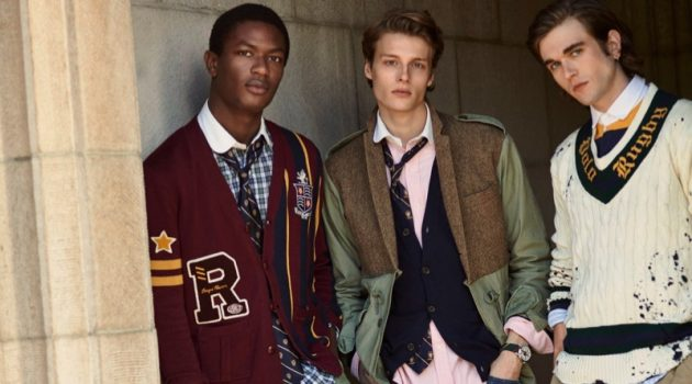 Models Hamid Onifade, Hugh Laughton-Scott, and Gabriel-Kane Day-Lewis star in POLO Ralph Lauren's pre-fall 2019 campaign.