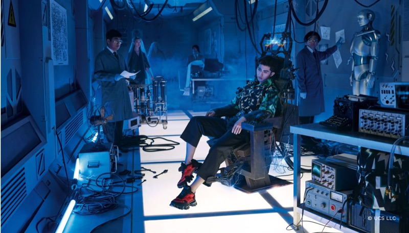 "Singer Cai Xukun fronts Prada's fall-winter 2019 ""Code Human"" campaign."