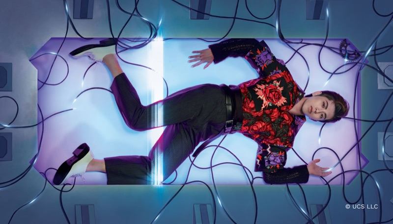 "Cai Xukun stars in Prada's fall-winter 2019 ""Code Human"" campaign."