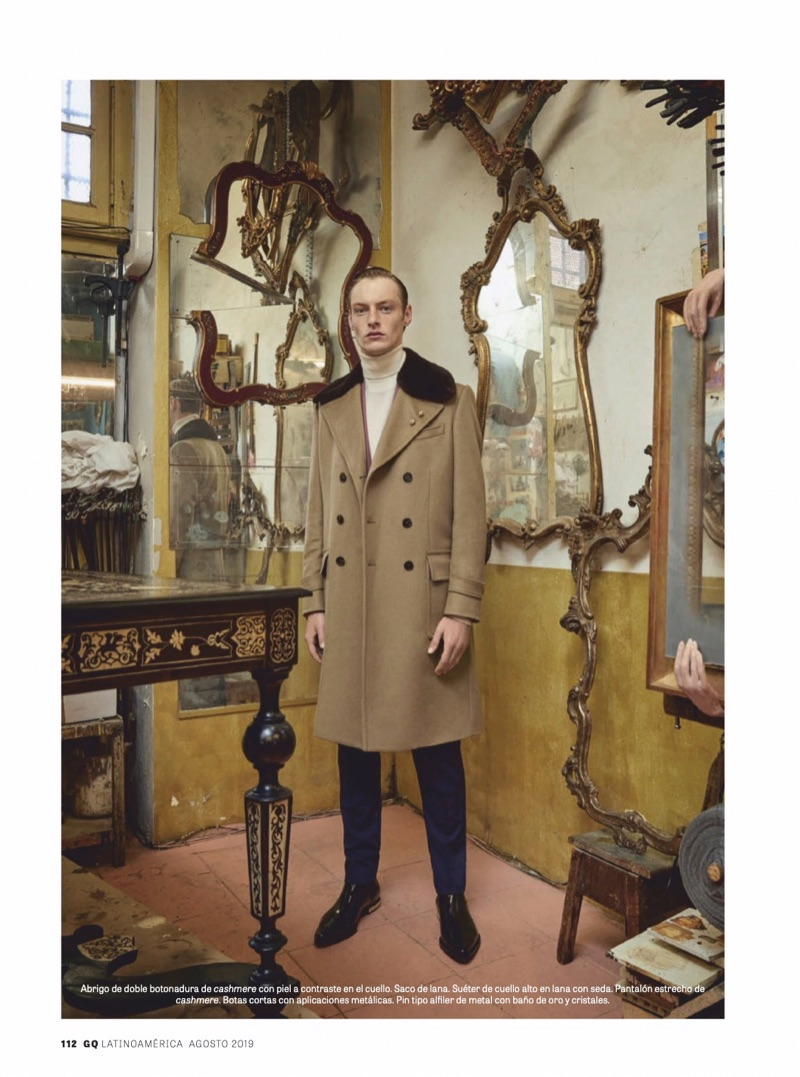 Roberto Sipos Dons Dolce & Gabbana Tailoring for GQ Latin America