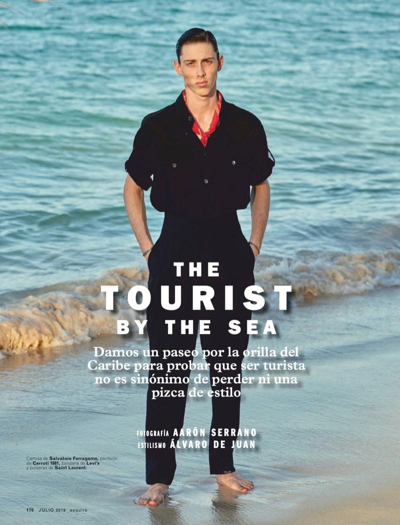 The Tourist by the Sea: Rodrigue Durard for Esquire España