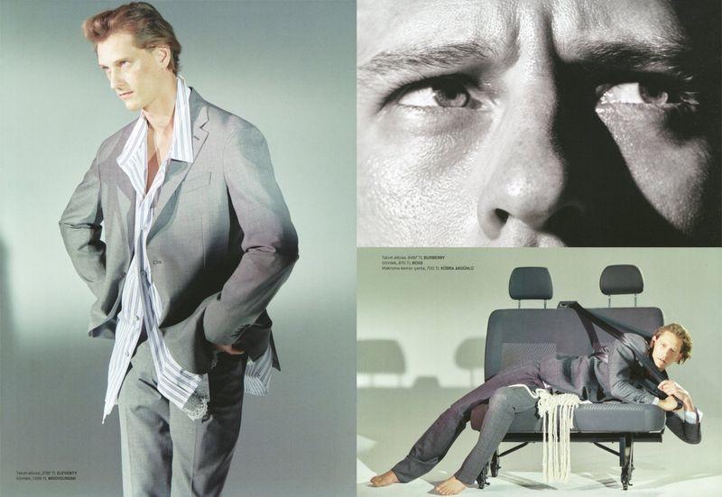 Rogier Bosschaart Dons Romantic Style for GQ Turkey