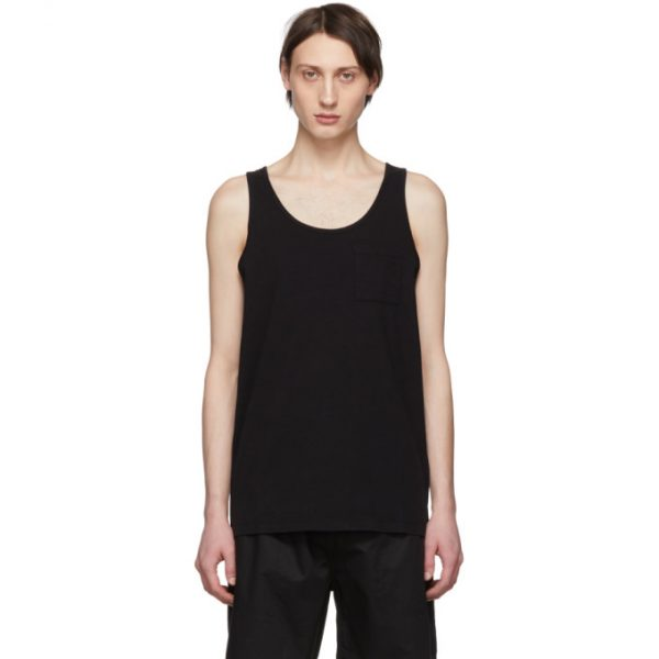 Saturdays NYC Black Pima Rosen Tank Top