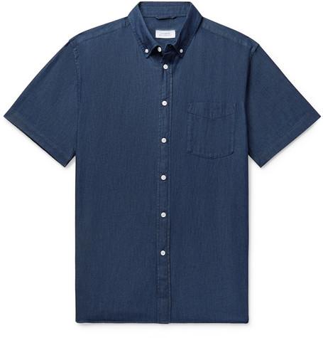 Saturdays NYC - Button-Down Collar Denim Shirt - Men - Dark denim