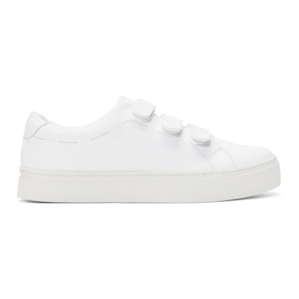 Saturdays NYC White Canvas Vincent Sneakers