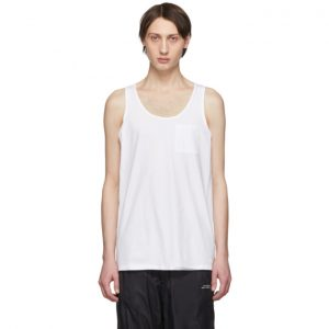 Saturdays NYC White Pima Rosen Tank Top