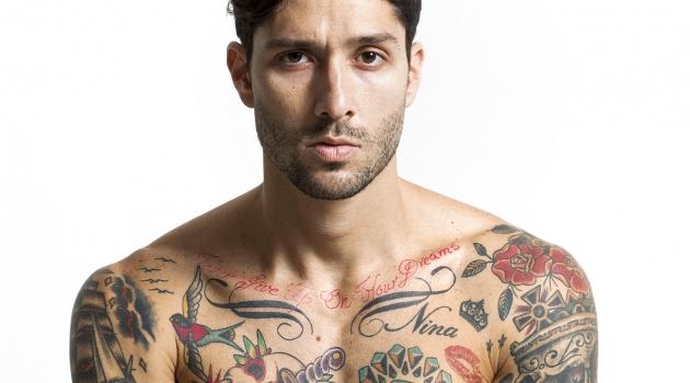 Shirtless Male Model Tattoos