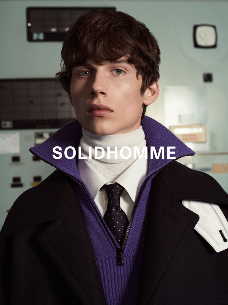 Augusts Traumanis stars in Solid Homme's fall-winter 2019 campaign.