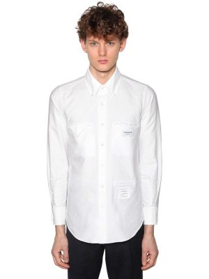 Straight Fit Cotton Oxford Shirt