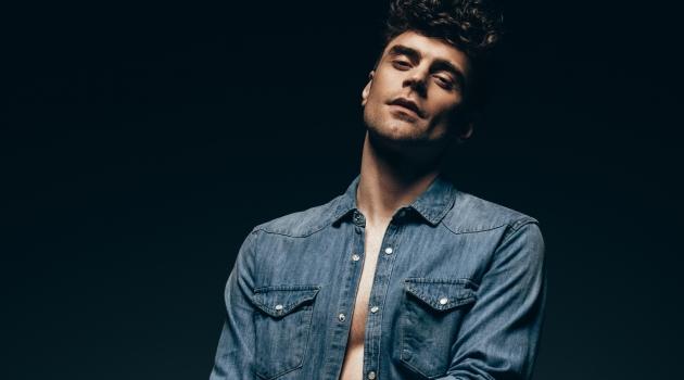 Stylish Man Denim Shirt Jeans