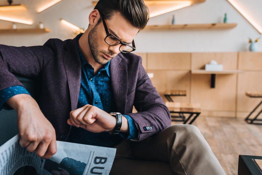 Stylish Man Glasses Watch