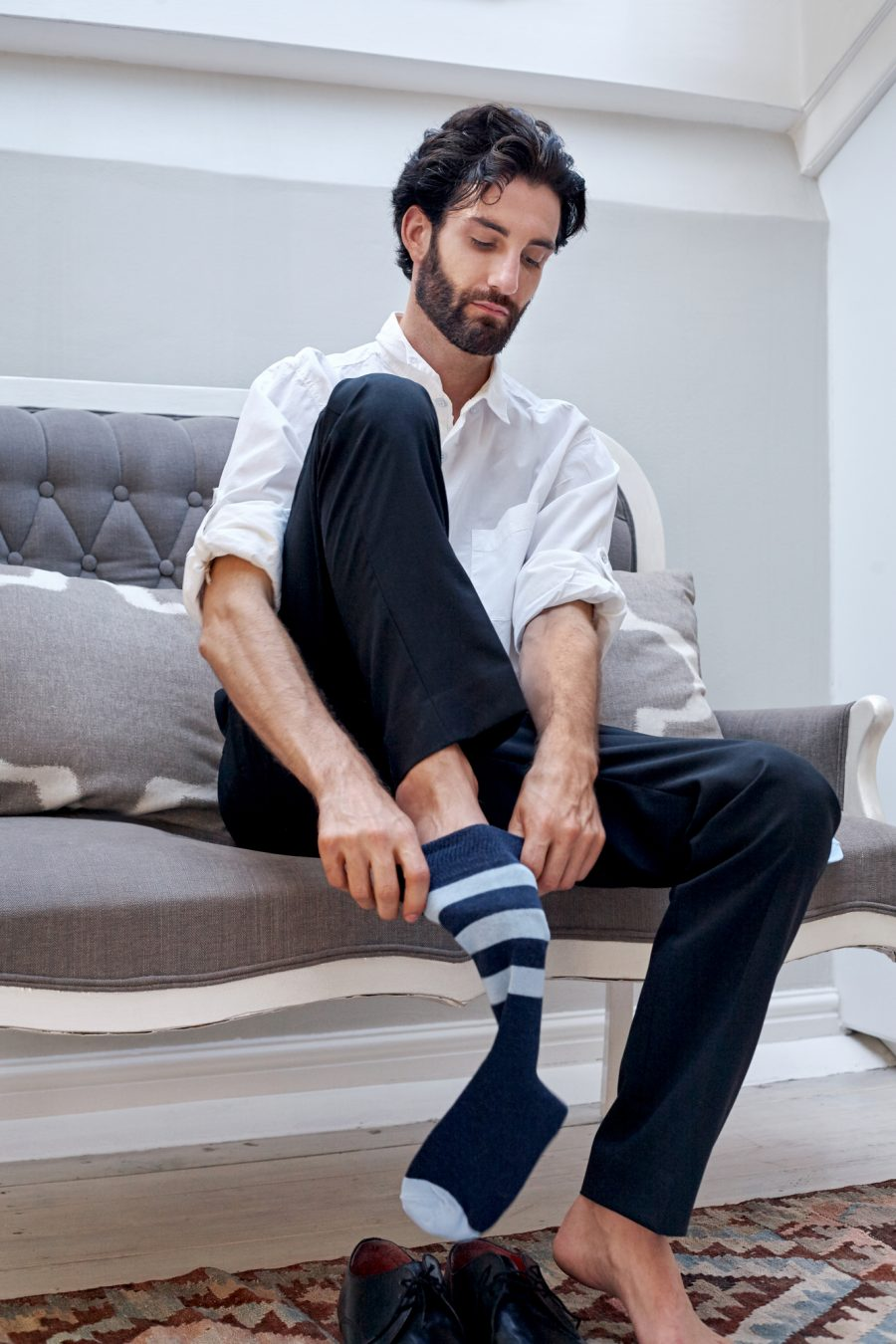 Stylish Man Striped Socks