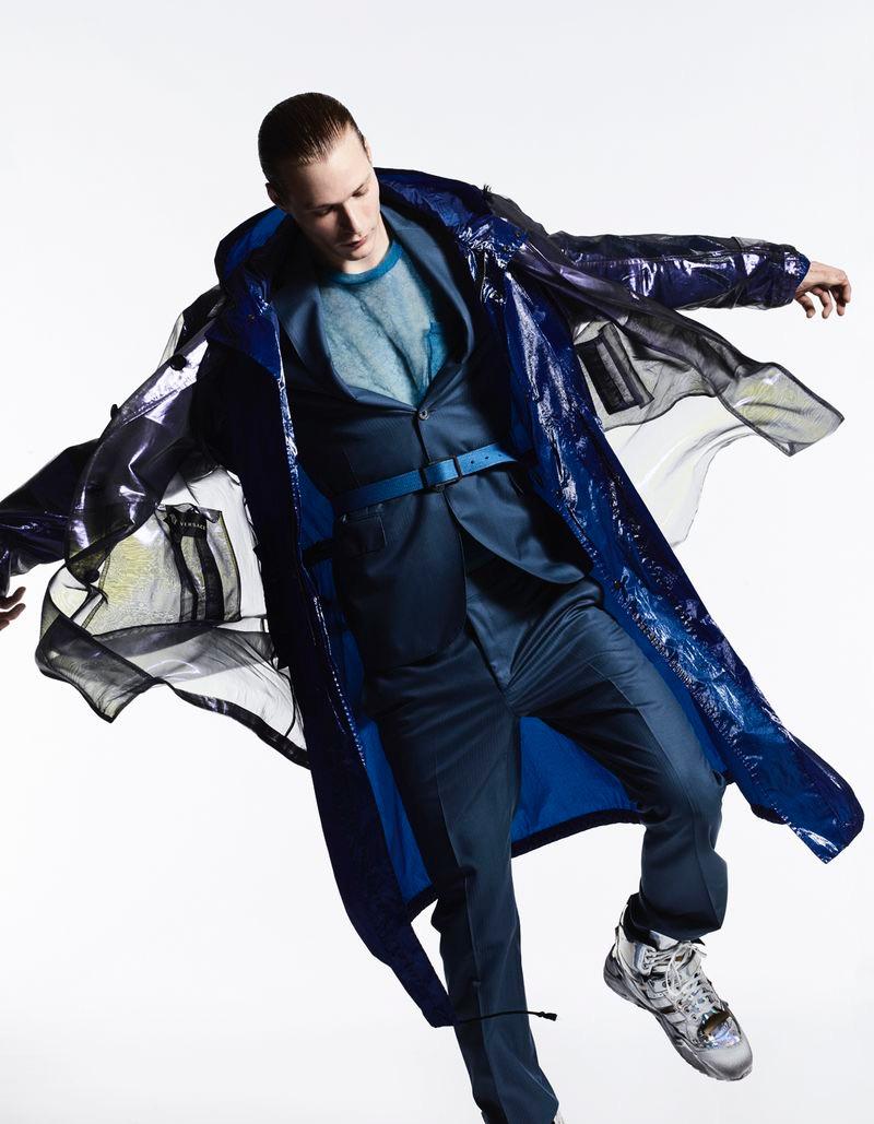 Sven de Vries Goes Futuristic in Sporty Style for Esquire Italia