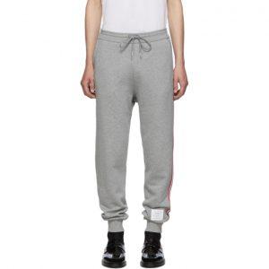 Thom Browne Grey Classic Loopback Lounge Pants