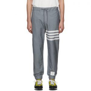 Thom Browne Grey Swim Tech 4-Bar Lounge Pants
