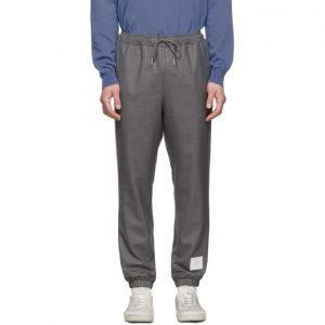 Thom Browne Grey Twill Track Trousers