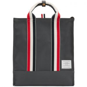 Thom Browne Grey Unlined Canvas Tote Bag