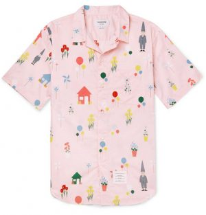 Thom Browne - Printed Cotton Shirt - Men - Pink