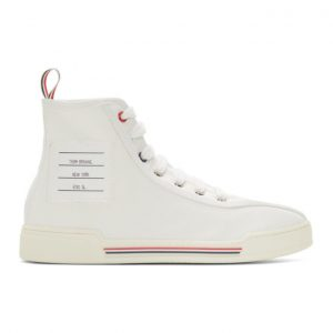 Thom Browne White Cupsole High-Top Sneakers