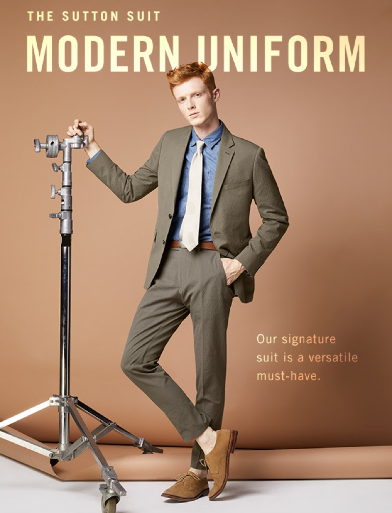 The Versatile Suit: Step up your everyday sartorial style with an elegant suit. Making a splash, model Linus Wordemann dons Todd Snyder's seersucker suit in olive green.