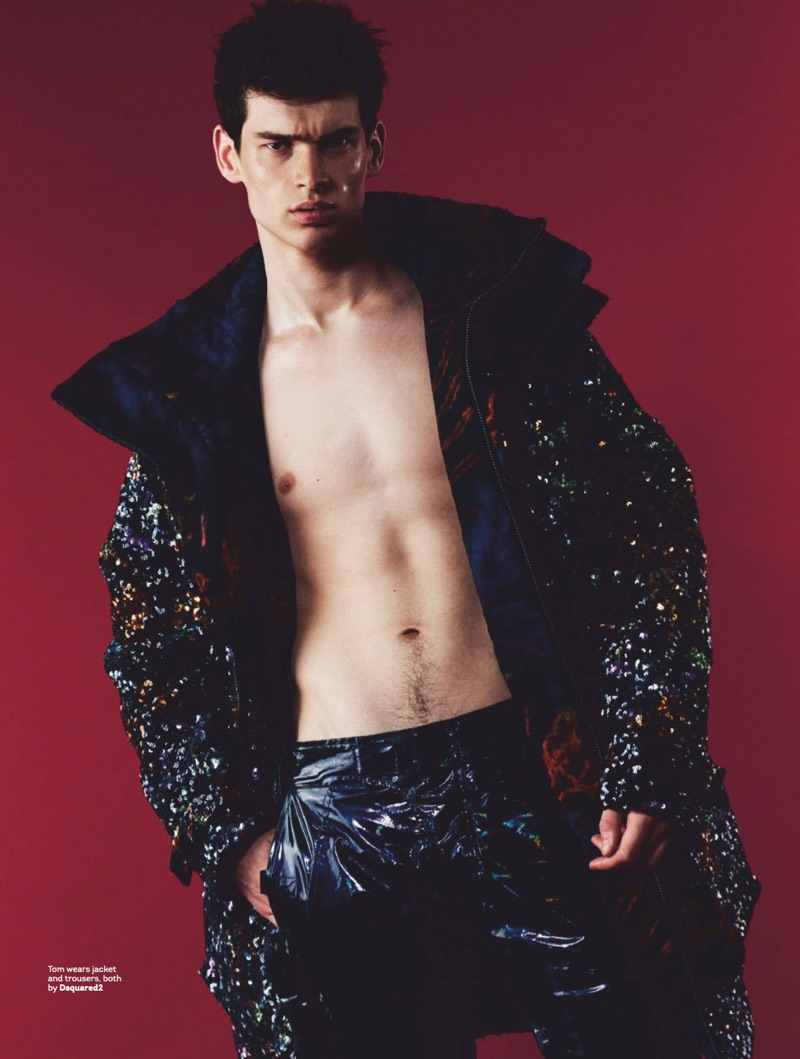 Tom Hughes Steps Into Fall with Bold Fashions for Attitude