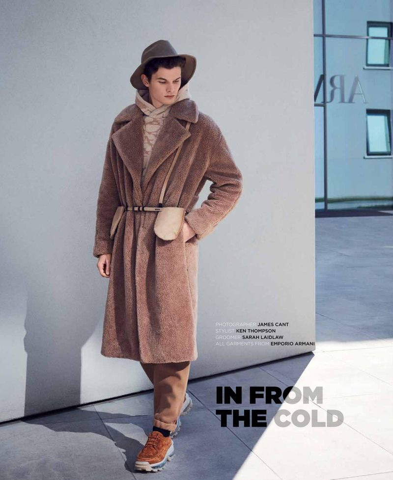 In from the Cold: Tuur Sikkink Dons Emporio Armani for Wish Magazine