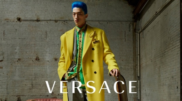 Hang Yu stars in Versace's fall-winter 2019 men's campaign.