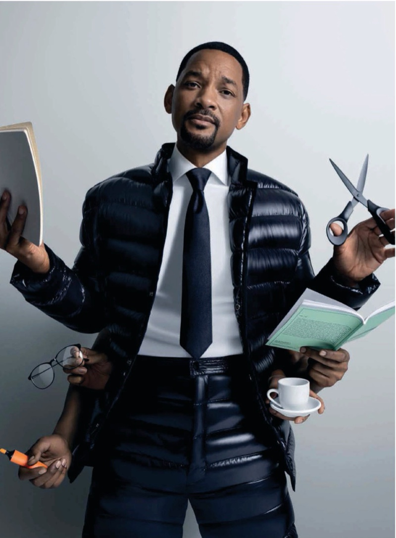 """Actor Will Smith sports a quilted look for Moncler's """"Genius is Born Crazy"""" campaign."""