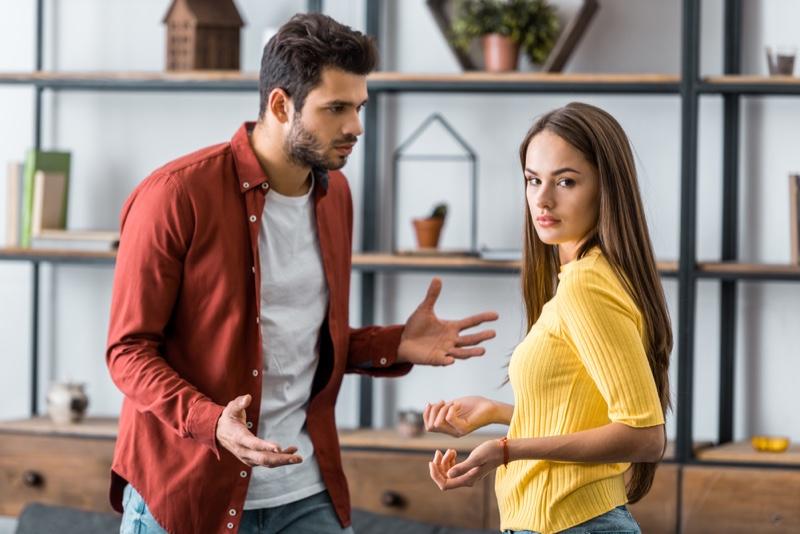 Woman Man Arguing