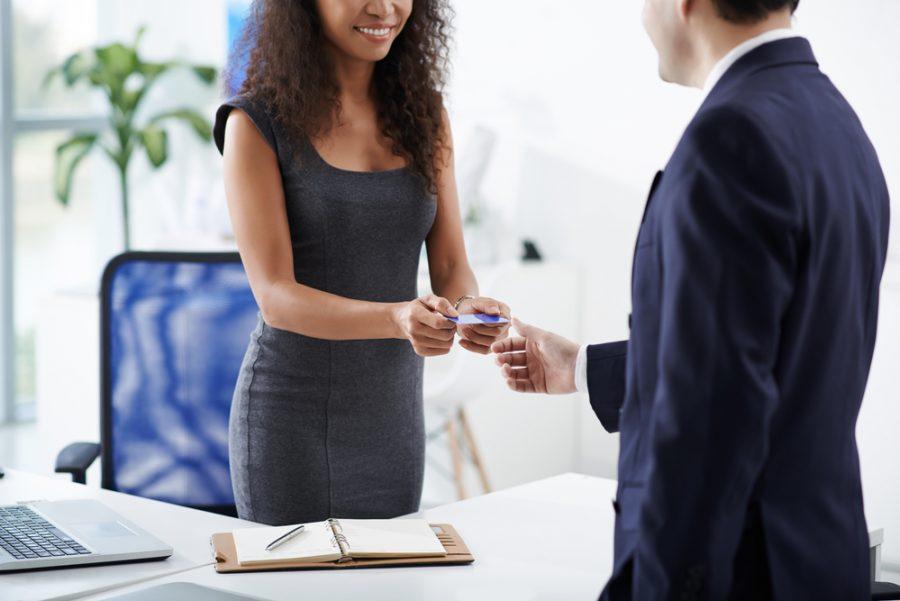Woman Man Business Card