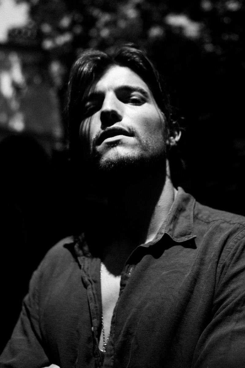 Model Yannick Hansen delivers his best angles in a portrait shot.