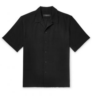 rag & bone - Avery Camp-Collar Woven Shirt - Men - Black