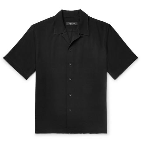rag & bone - Avery Camp-Collar Woven Shirt - Men - Black
