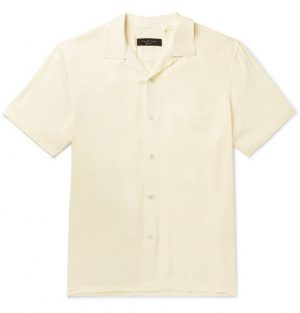 rag & bone - Camp-Collar Twill Shirt - Men - Beige