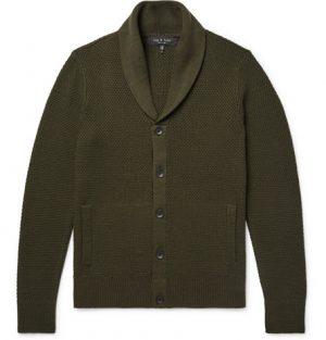 rag & bone - Cardiff Merino Wool and Cotton-Blend Cardigan - Men - Army green