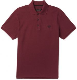 rag & bone - Cotton-Piqué Polo Shirt - Men - Burgundy