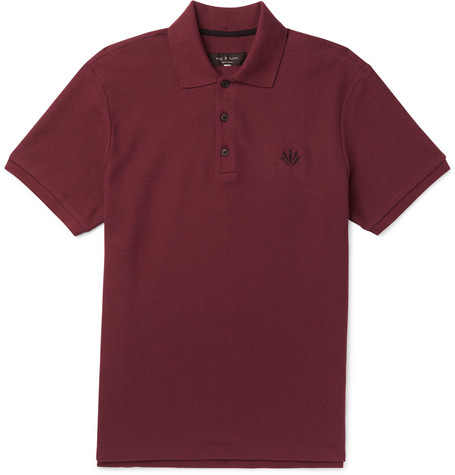 rag & bone - Cotton-Piqué Polo Shirt - Men - Burgundy