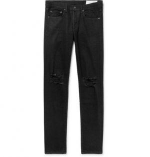 rag & bone - Fit 1 Skinny-Fit Distressed Stretch-Denim Jeans - Men - Black
